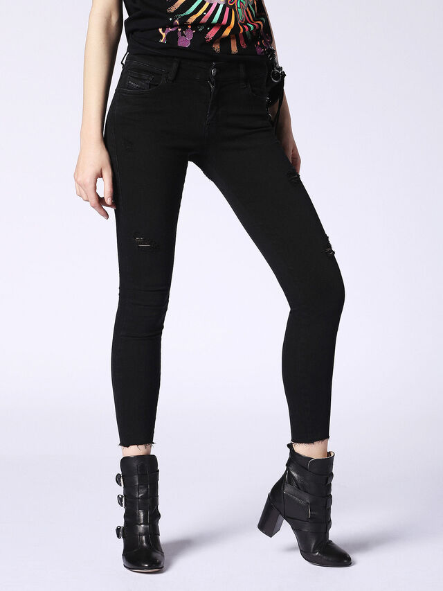 Diesel - Slandy 084EX, Black Jeans - Jeans - Image 1