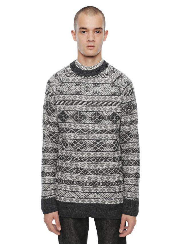 Diesel - KNAPP, White/Grey - Sweaters - Image 1