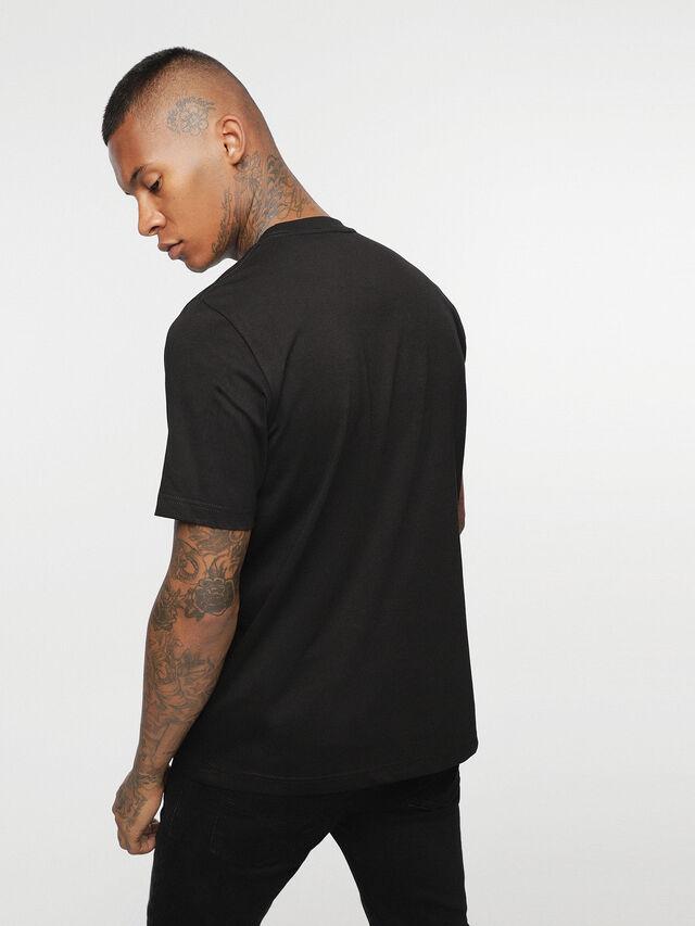 Diesel - HC-T-JUST-DIVISION-B, Black - T-Shirts - Image 4