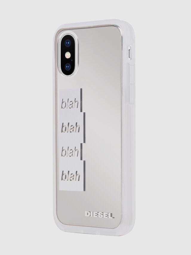 Diesel - BLAH BLAH BLAH IPHONE X CASE, White/Silver - Cases - Image 6