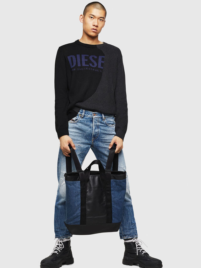 Diesel - SALZANO, Blue/Black - Shopping and Shoulder Bags - Image 6