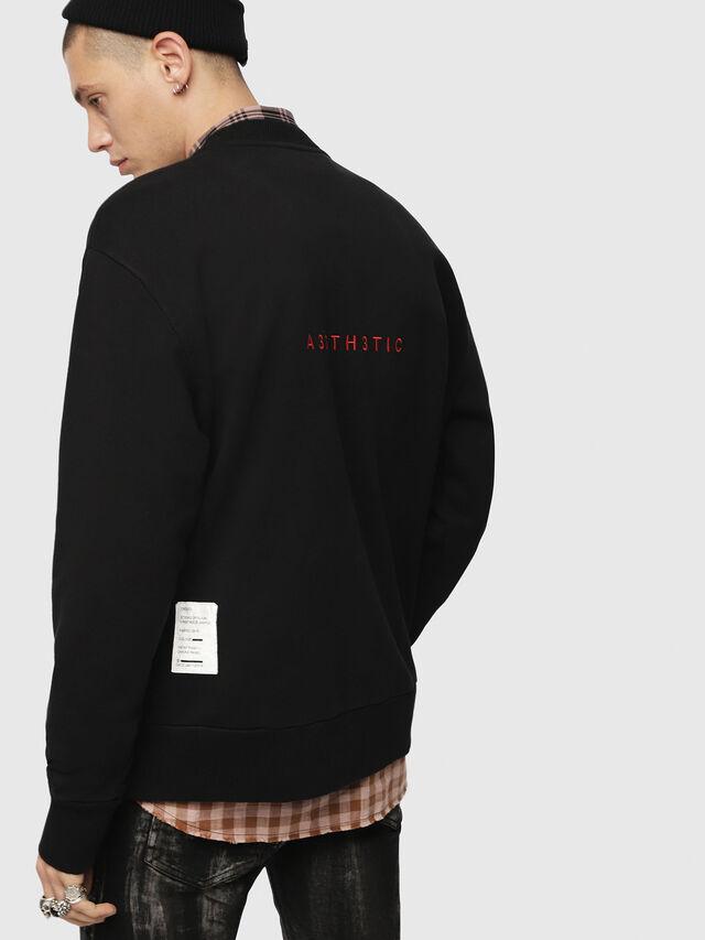 Diesel - S-BAY-YB, Black - Sweatshirts - Image 2