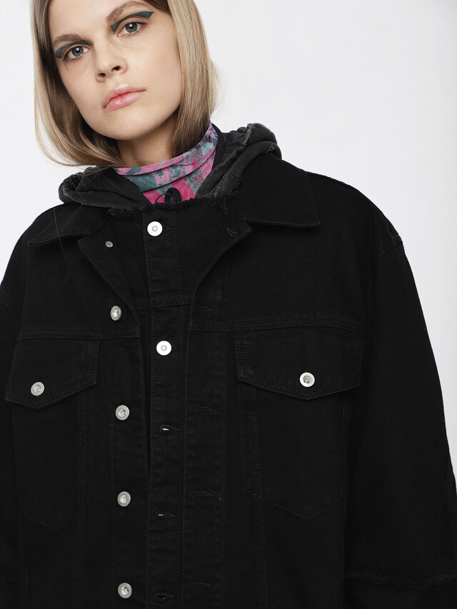 Diesel - DE-VISEMAC, Black - Denim Jackets - Image 5