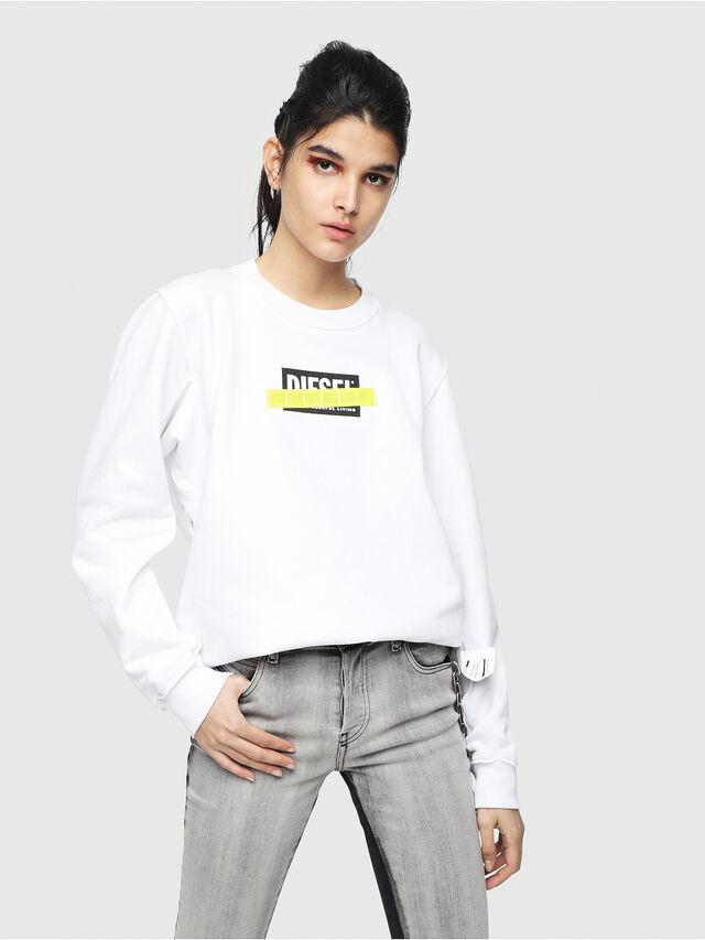 Diesel - F-LYANY-B, White - Sweatshirts - Image 1