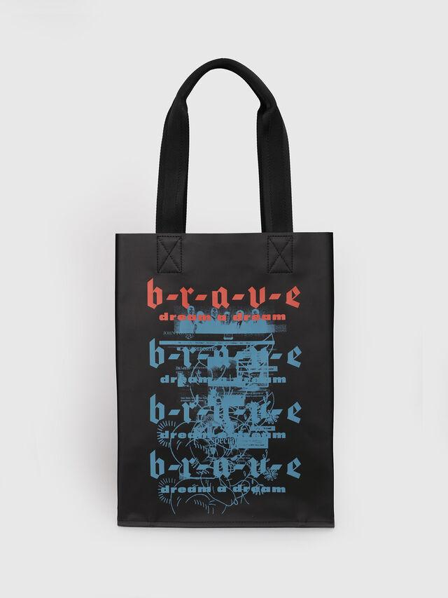Diesel - F-BILLBOARD SHOPPER, Black/Red - Shopping and Shoulder Bags - Image 1
