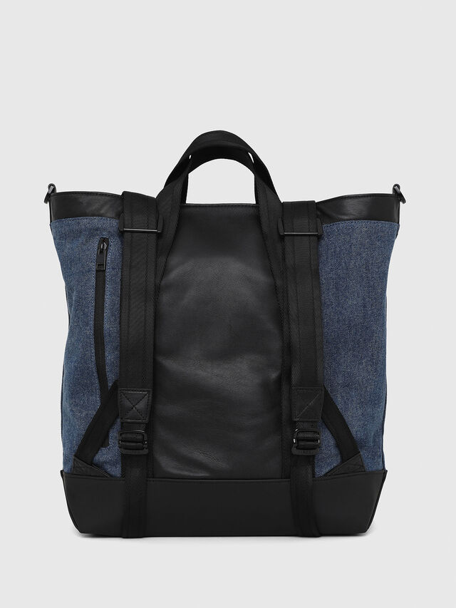 Diesel - SALZANO, Blue/Black - Shopping and Shoulder Bags - Image 3