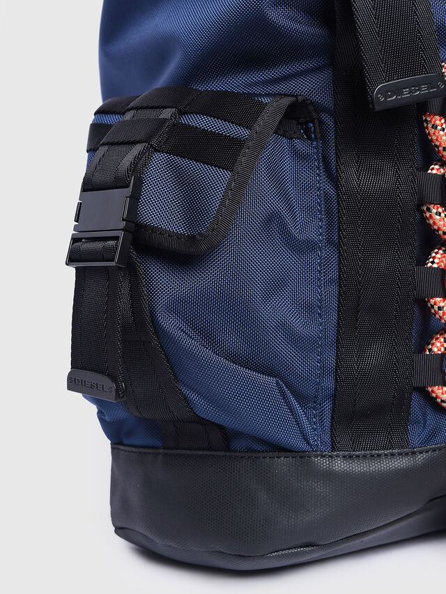 Diesel - M-CAGE BACK, Blue/Orange - Backpacks - Image 5