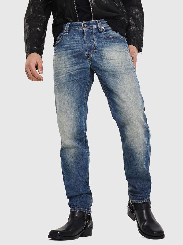 Diesel - Larkee-Beex 089AR, Medium Blue - Jeans - Image 1