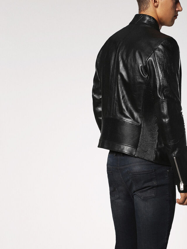 Diesel - L-RUSH, Black - Leather jackets - Image 3