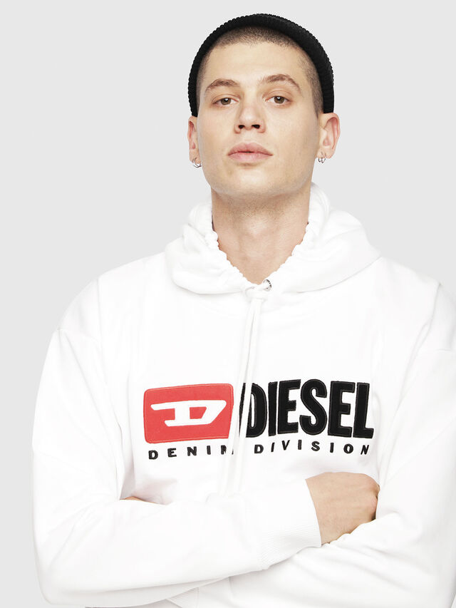 Diesel - S-DIVISION, White - Sweatshirts - Image 3