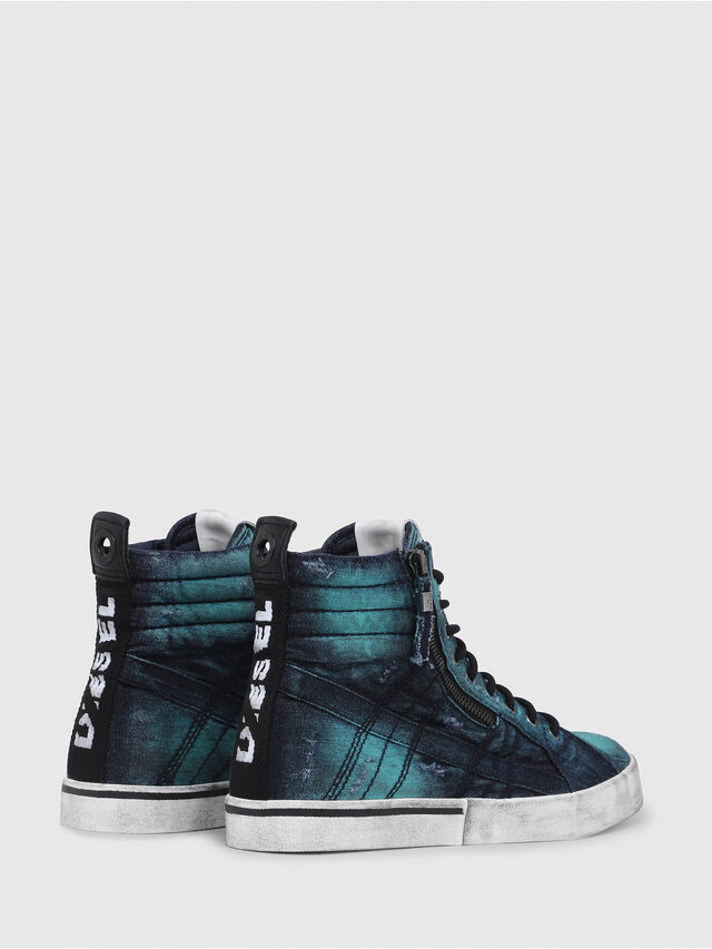 Diesel - D-VELOWS MID LACE, Turquoise - Sneakers - Image 3