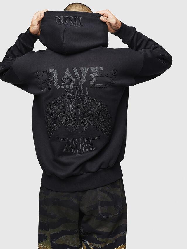 Diesel - S-ALBY-B5, Black - Sweatshirts - Image 2