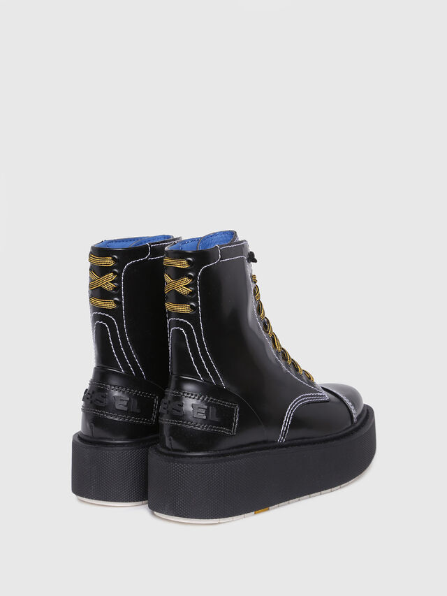 Diesel - D-CAGE HB, Bright Black - Ankle Boots - Image 3