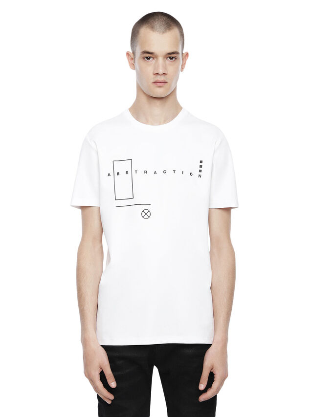 Diesel - TY-ABSTRACTION, White - T-Shirts - Image 1
