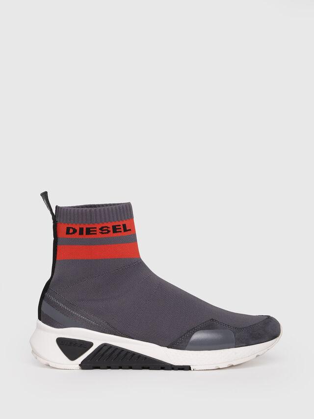 Diesel - S-KB SOCK, Grey/Red - Sneakers - Image 1