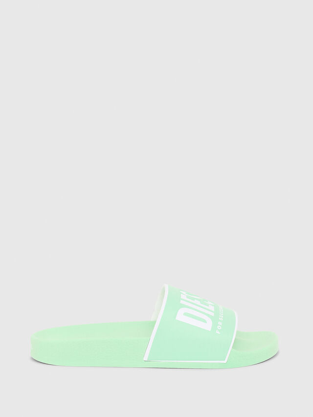 Diesel - SA-VALLA W, Green Fluo - Slippers - Image 1