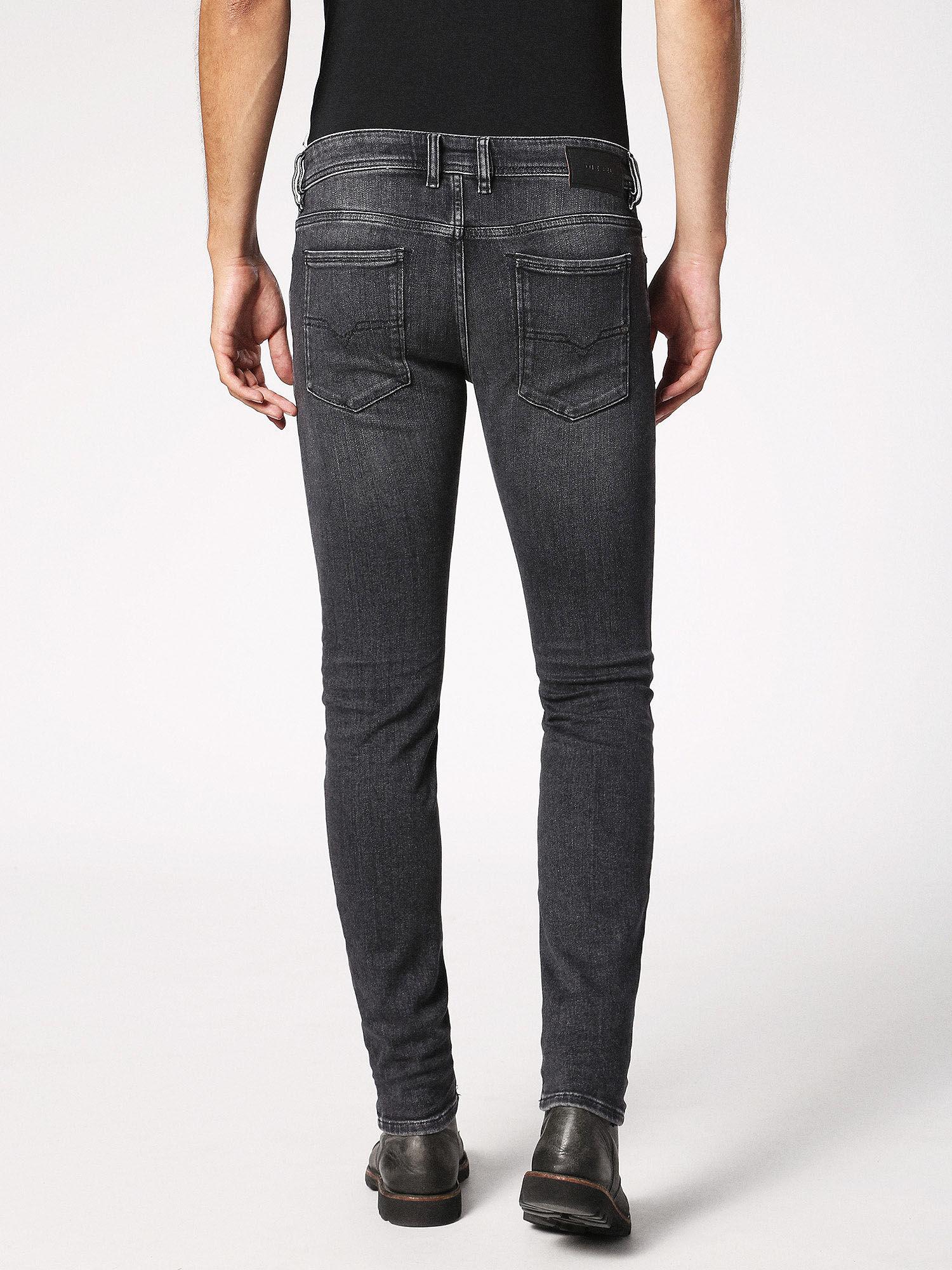 Jeans On Sale in Outlet, Sleenker Skynny, Grey, Cotton, 2017, 30 33 Diesel