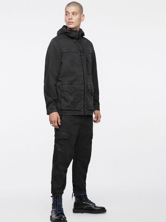 Diesel - JOQUE JOGGJEANS, Black/Dark Grey - Denim Jackets - Image 4