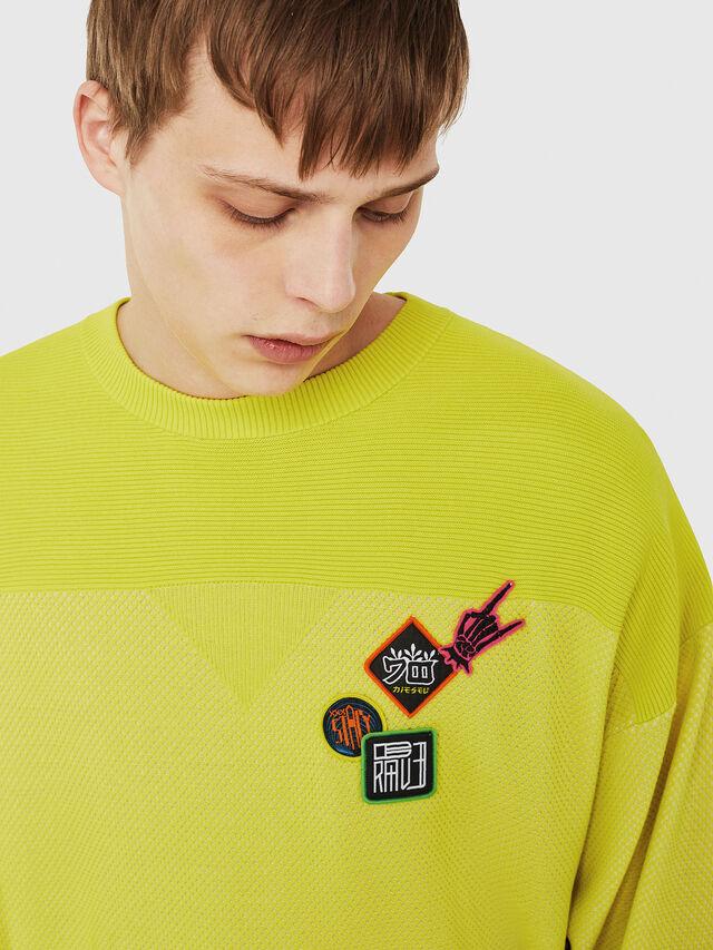 Diesel - K-TREY, Yellow Fluo - Sweaters - Image 3