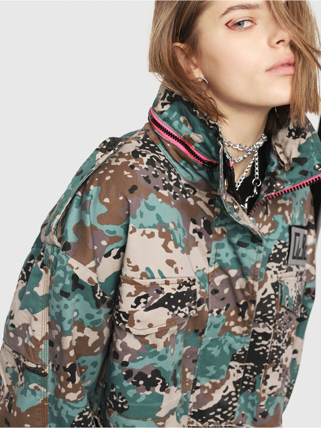 Diesel - G-SHILOH-A, Green Camouflage - Jackets - Image 3