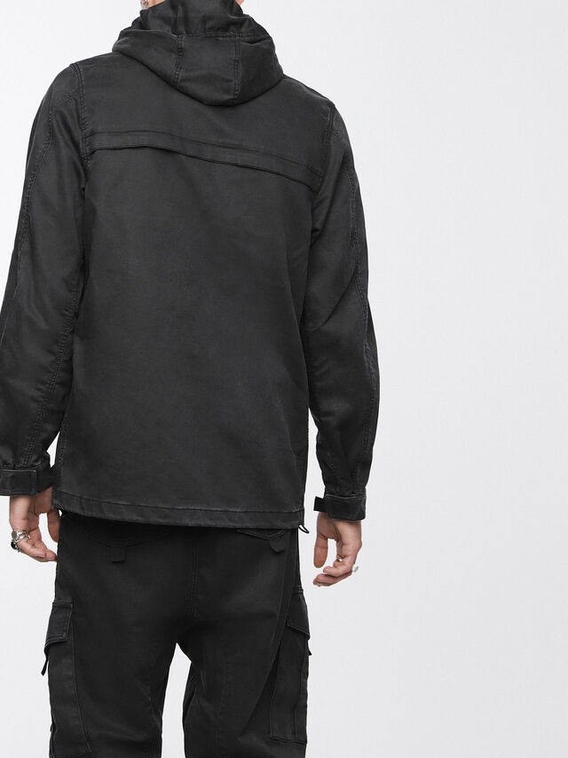 Diesel - JOQUE JOGGJEANS, Black/Dark Grey - Denim Jackets - Image 2