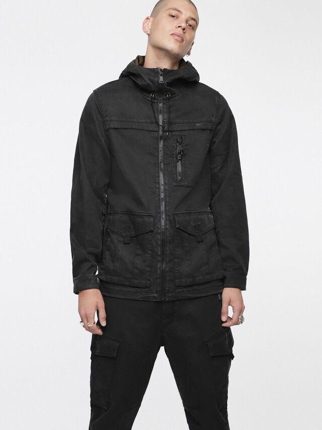 Diesel - JOQUE JOGGJEANS, Black/Dark Grey - Denim Jackets - Image 1