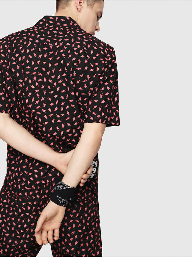 Diesel - S-FRIDAY-HAND, Black/Red - Shirts - Image 2