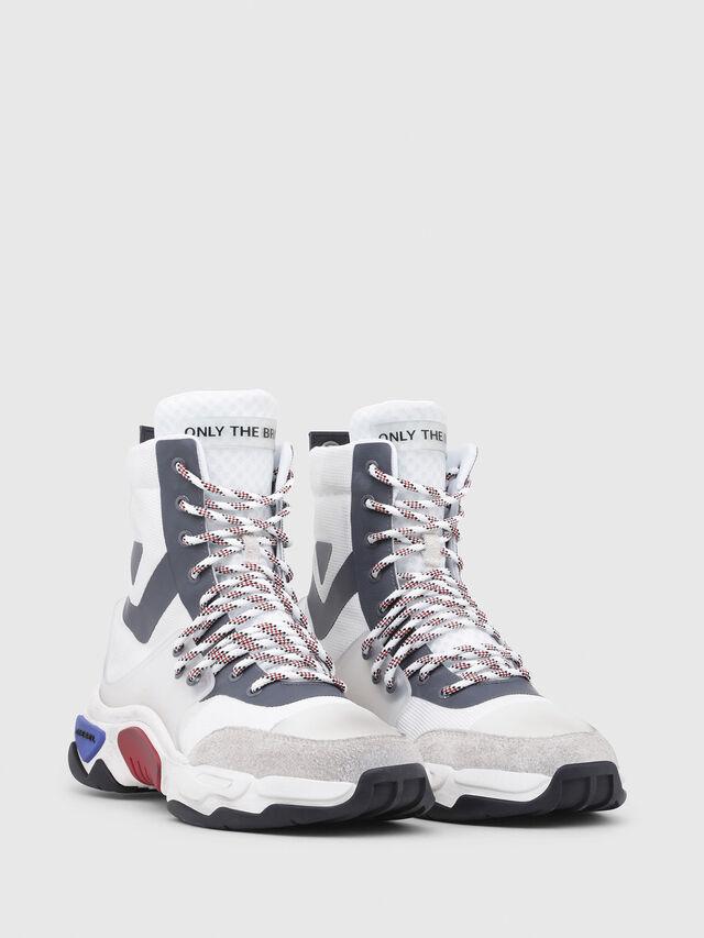 Diesel - S-KIPPER MID LACE, White - Sneakers - Image 2