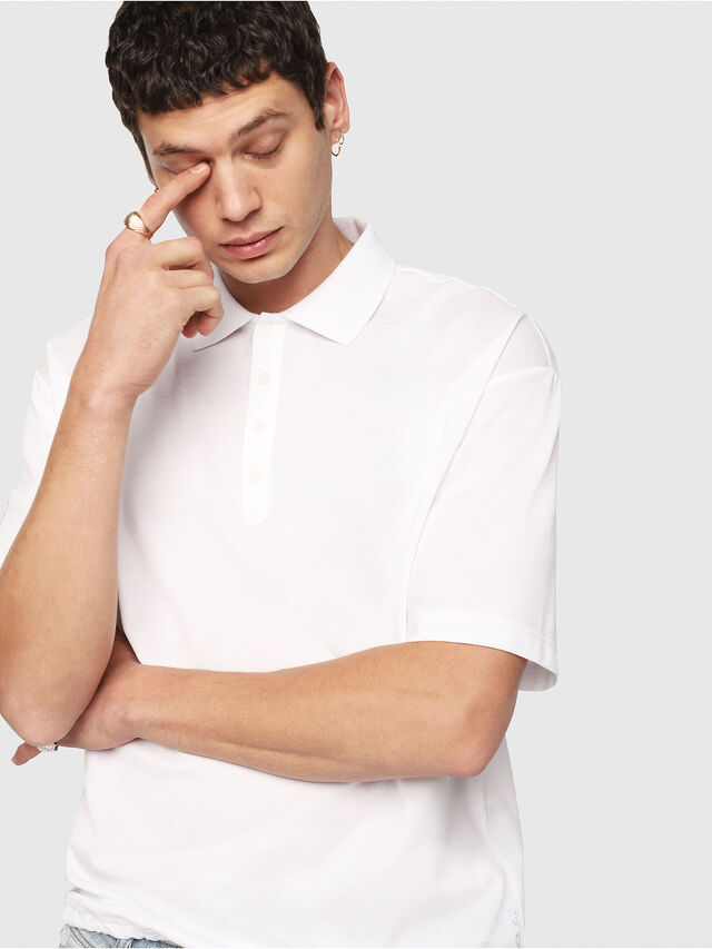 Diesel - T-PLATO, White - Polos - Image 4