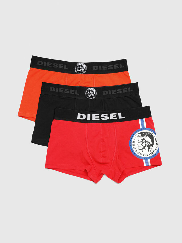 Diesel - UMBX-DAMIENTHREEPACK, Red/Black - Trunks - Image 1