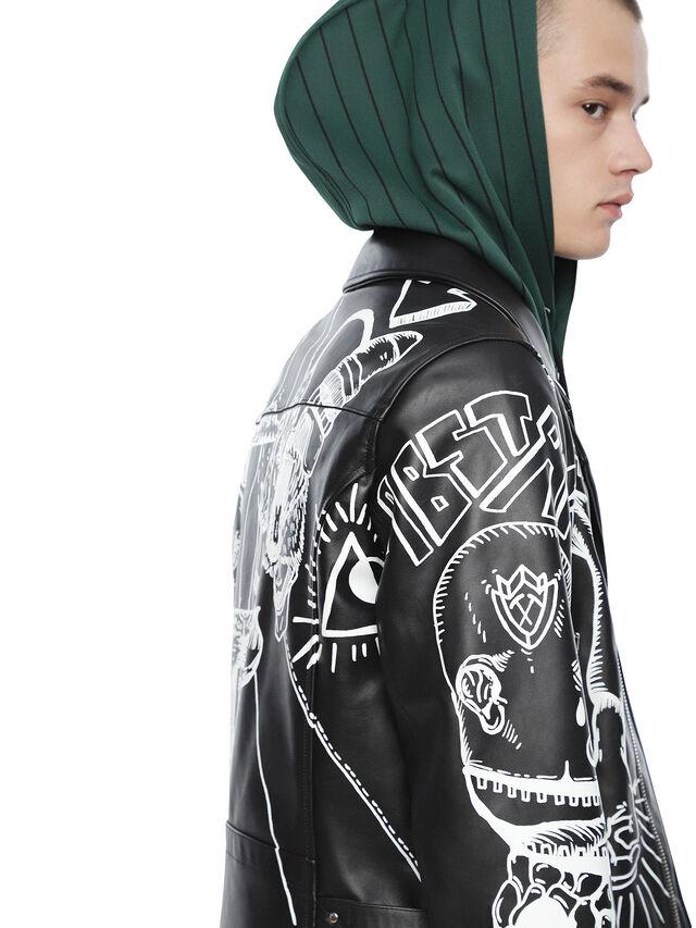 Diesel - LORAGRAPH, Black - Leather jackets - Image 6