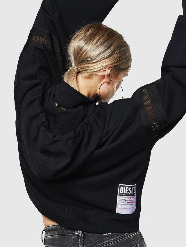Diesel - F-AVAL, Black - Sweatshirts - Image 4