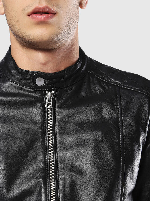 Diesel - L-MARTON, Black - Leather jackets - Image 4