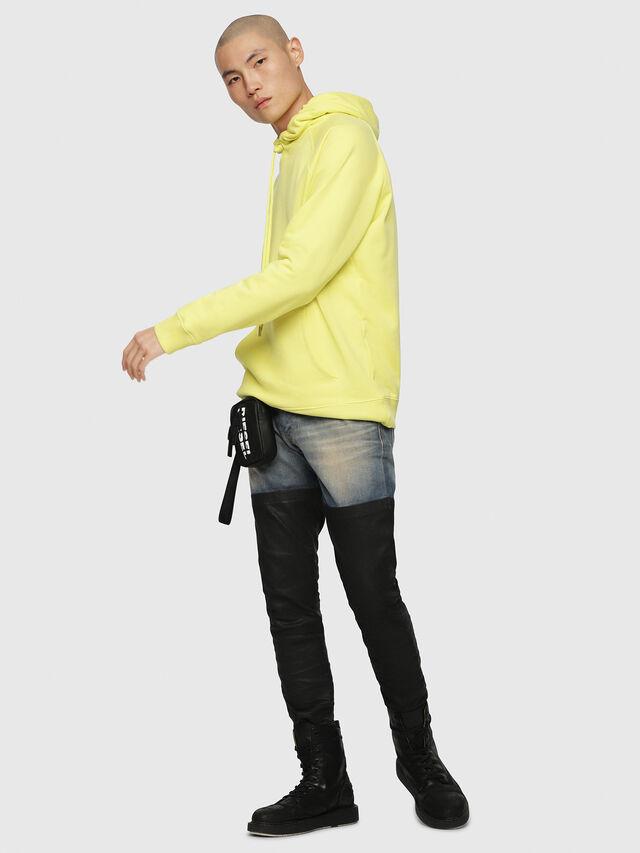 Diesel - S-GIM-HOOD-A, Light Yellow - Sweatshirts - Image 4