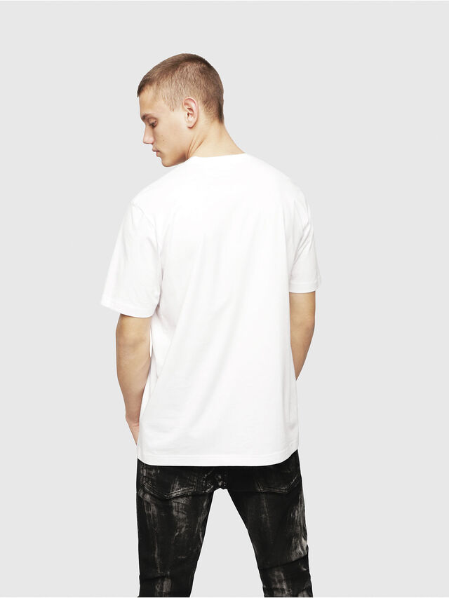 Diesel - T-JUST-YL, White - T-Shirts - Image 2