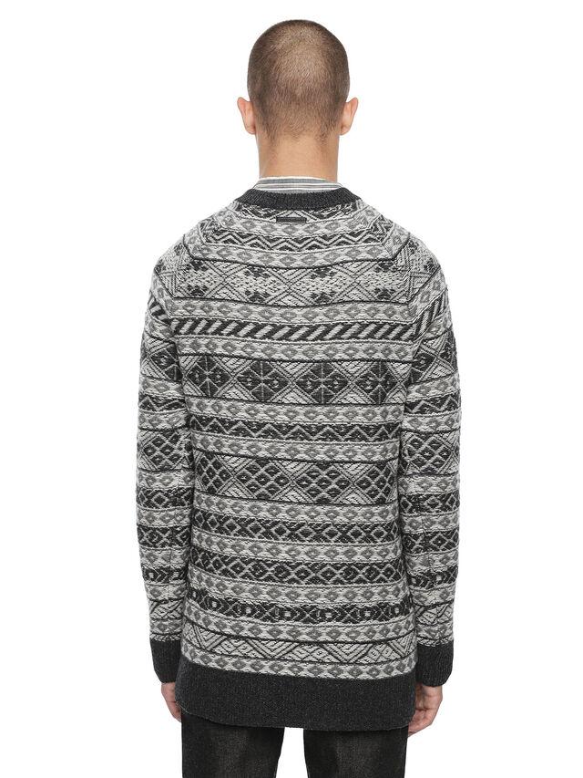 Diesel - KNAPP, White/Grey - Sweaters - Image 2