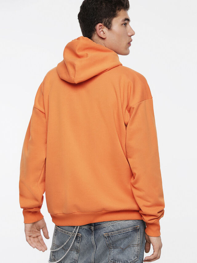 Diesel - S-DIVISION, Orange - Sweatshirts - Image 2