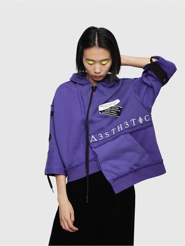 Diesel - F-MIKI, Violet - Sweatshirts - Image 1