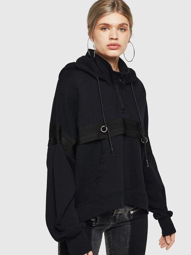 Diesel - F-AVAL, Black - Sweatshirts - Image 1