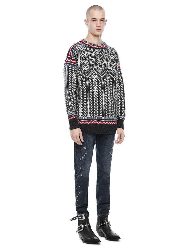 Diesel - KETLAND, Black/White - Sweaters - Image 4