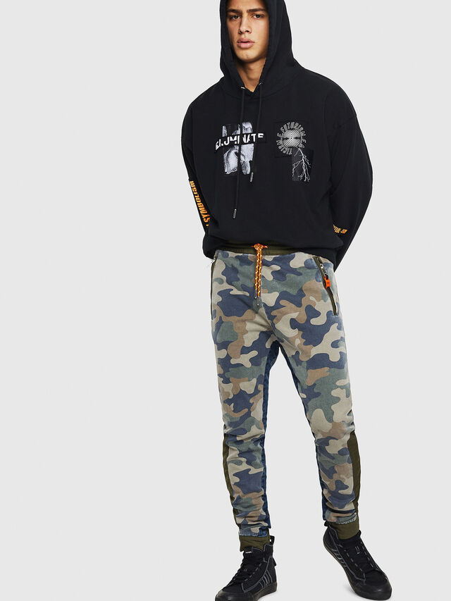 Diesel - D-Eeley JoggJeans 0GAUU, Green Camouflage - Jeans - Image 6
