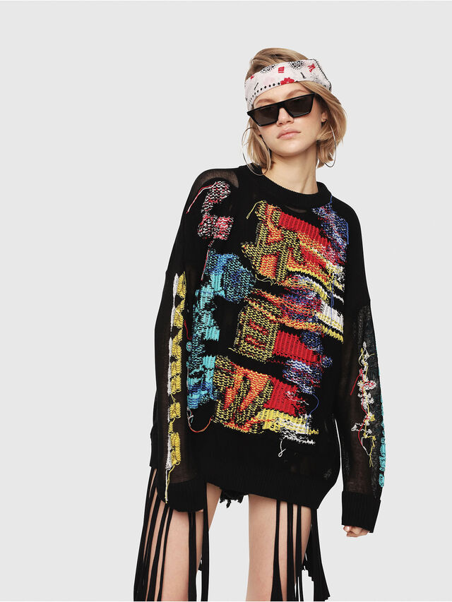 Diesel - M-NOW, Multicolor/Black - Sweaters - Image 1