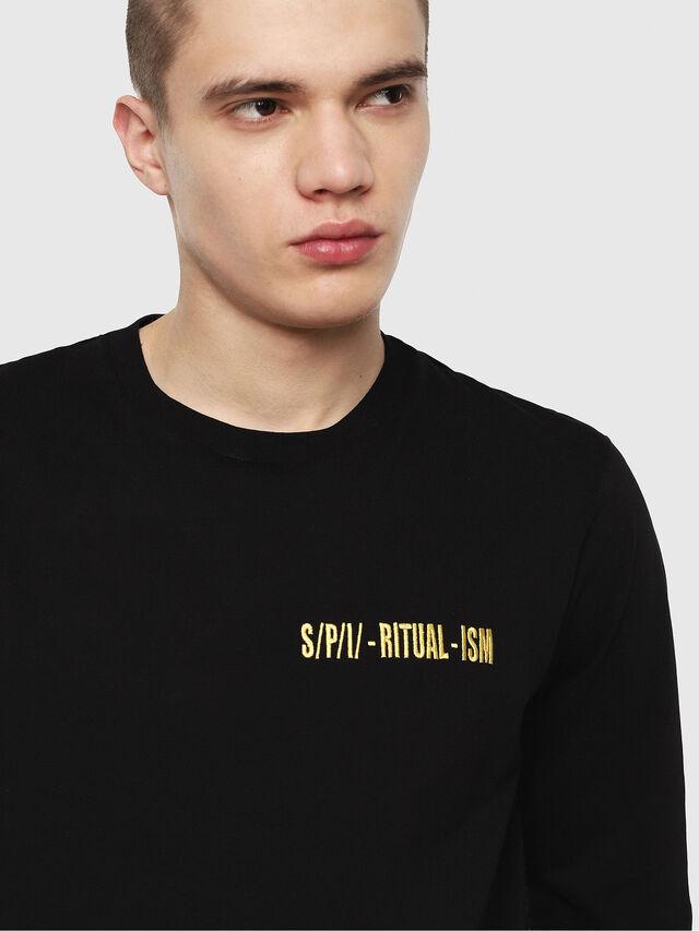 Diesel - T-YOSHIMI, Noir/Jaune - T-Shirts - Image 3