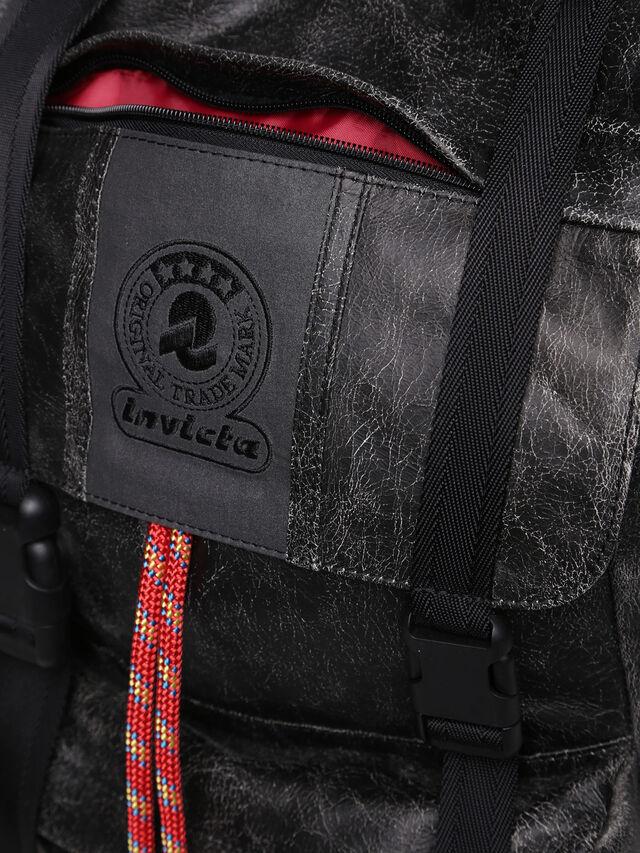 Diesel - M-INVICOLAB BACK IV, Black Leather - Backpacks - Image 5