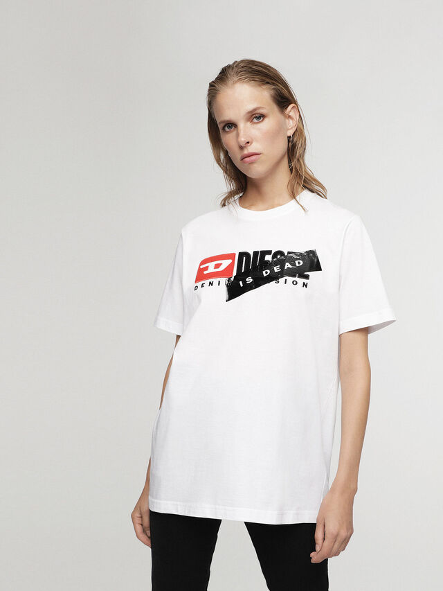 Diesel - HC-T-JUST-DIVISION-A, White - T-Shirts - Image 4