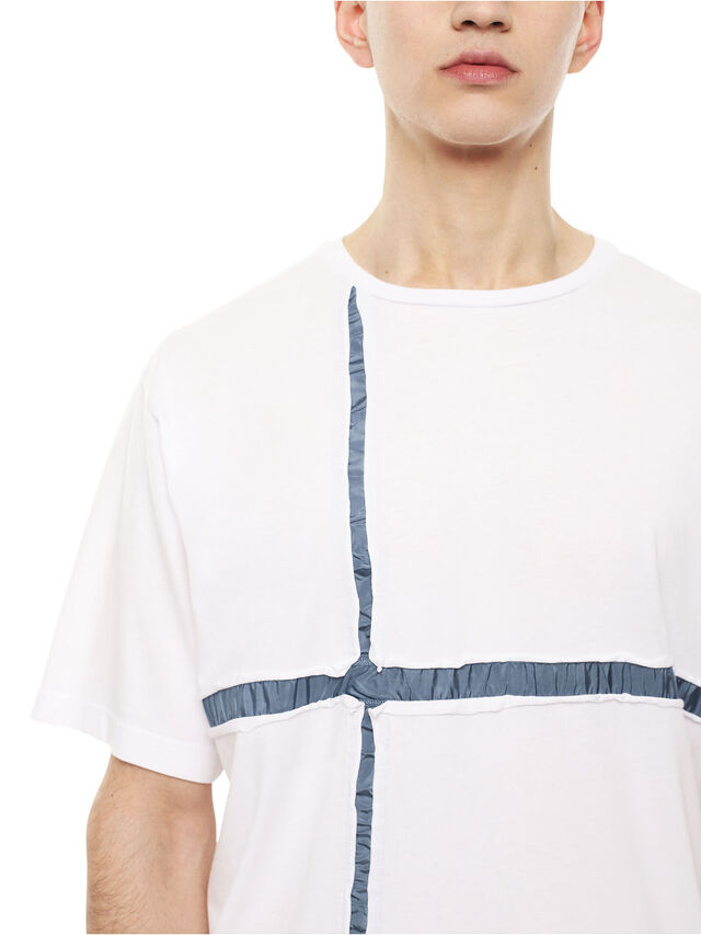 Diesel - TCUT, White/Blue - T-Shirts - Image 3