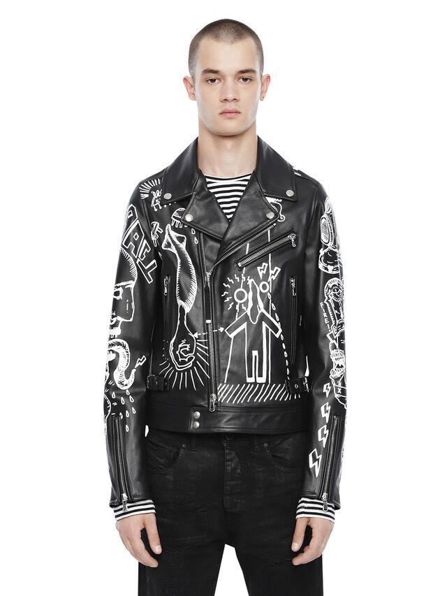 Diesel - LORAGRAPH, Black - Leather jackets - Image 1