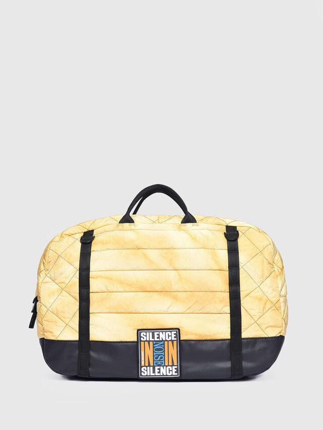 Diesel - F-HEYODA DUFFLE, Yellow - Travel Bags - Image 1