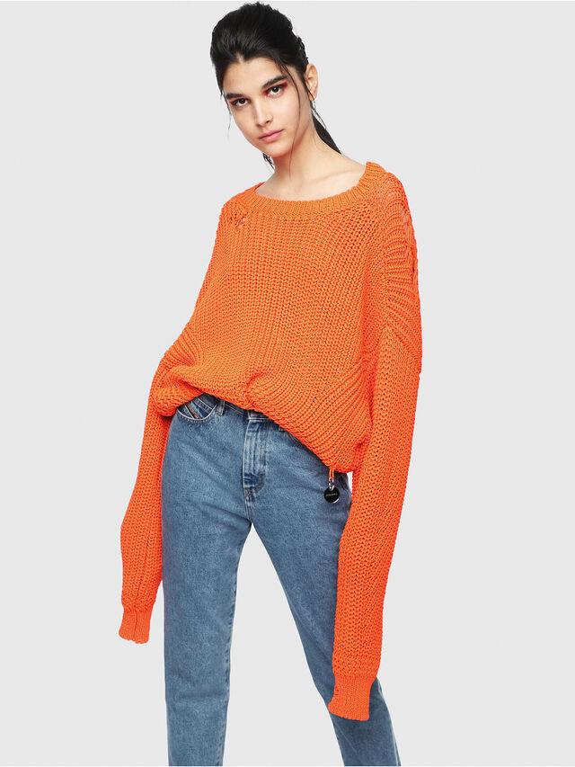 Diesel - M-BABI, Orange - Sweaters - Image 1