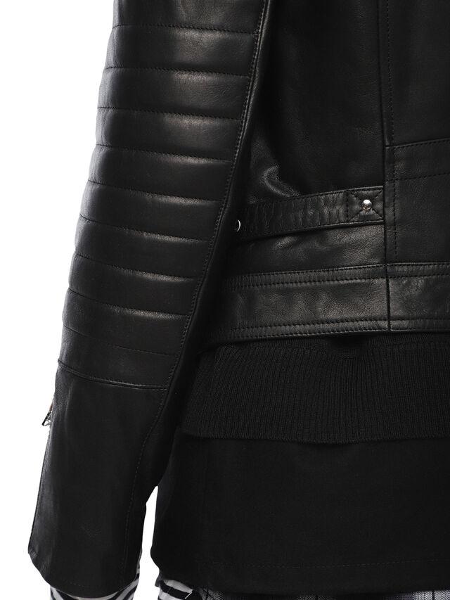 Diesel - LOCHECK, Black - Leather jackets - Image 8